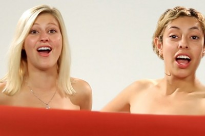 Women BFF see each other naked for the first time
