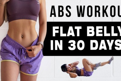 10 Mins ABS worksout to get a flat belly in 30 days